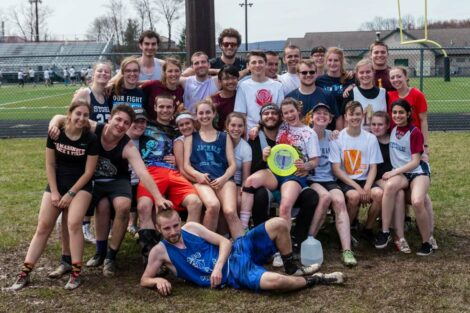Ultimate Frisbee team photo