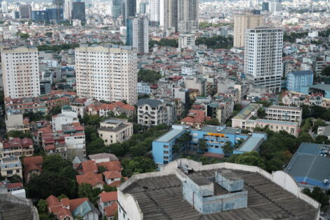 view from Trang Le's apartment in Hanoi