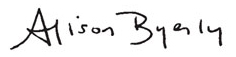 Alison Byerly's signature