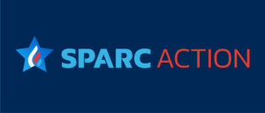 The logo for Sparc Action with a star preceding the words