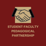 An illustration of a handshake above the words Student-Faculty Pedagogical Partnership