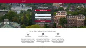 A screen shot of the virtual Lafayette Landing portal login page