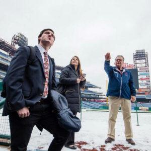 Students get a tour of Citizens Bank Park during their Philadelphia Phillies externship.